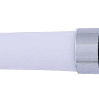 Esferografica plastica com detalhes cromados e Clip em metal