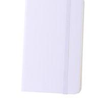 Bloco de notas A6 de 80 folhas com elástico
