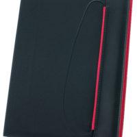Portfolio A4 c/bloco e suporte p/caneta e c/elástico