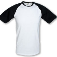 T-Shirt manga curta colorida basebol T 160 gr adulto